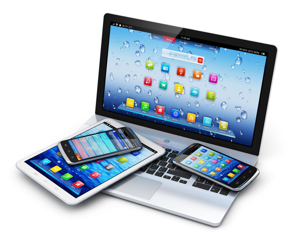 Laptop, tablet and mobile phones